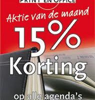 15% korting op agenda's